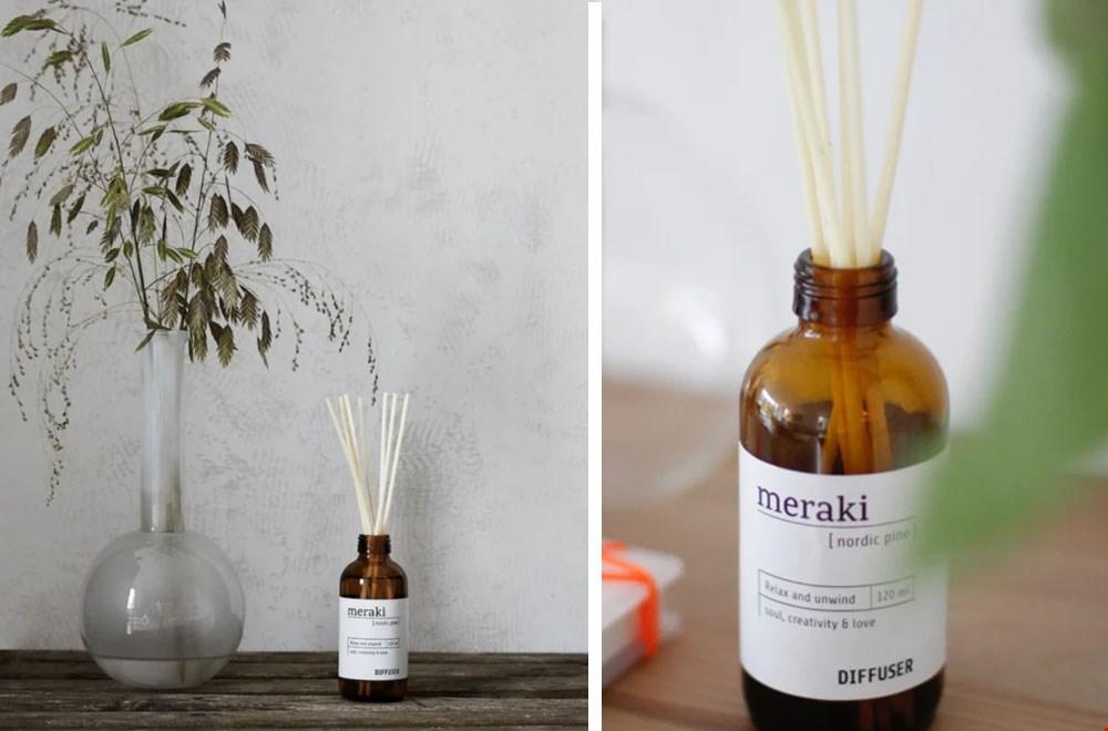 Sjoddy - by an10: Geurstokjes/diffuser van Meraki in de geur Nordic Pine
