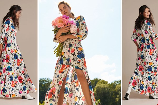 WIN maxi-dress Delicious Mess uit de spring summer 2021 collectie van POM-Amsterdam!