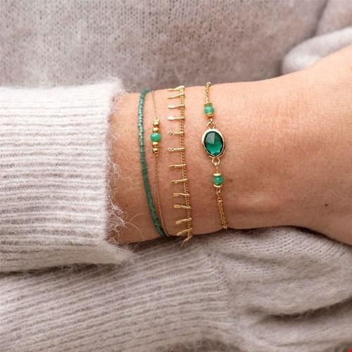 Armbanden setje van 3 / groen