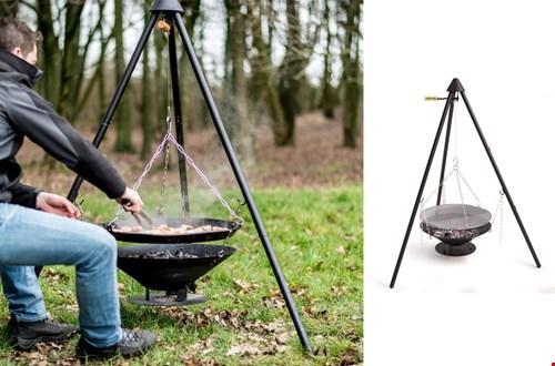 Voor survivallers: Barbecook driepoot