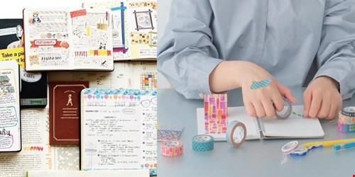 Scrapbooking en journaling met washi tape