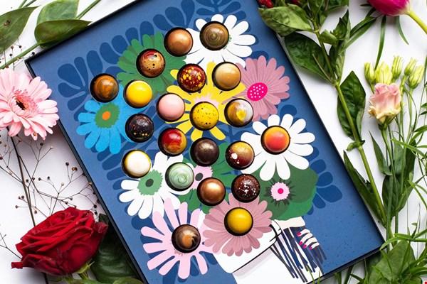 Chocolade bezorgd Bos Bloemen Flavourites
