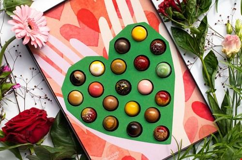 Chocolade bezorgd Bonbon Hart Flavourites
