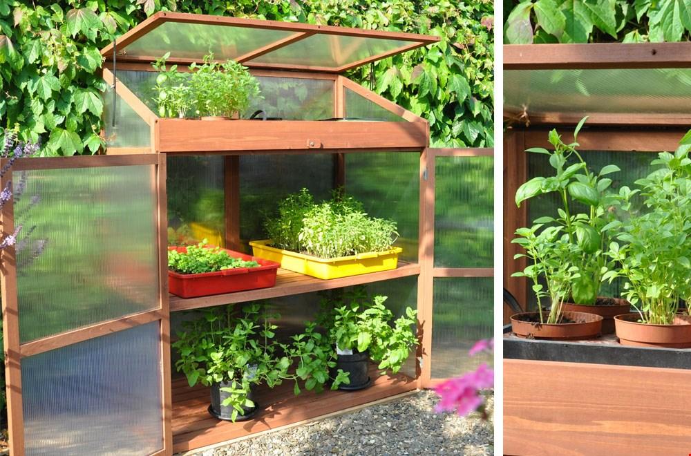 Mooi formaatje kas. past in elke tuin, op je balkon of terras!