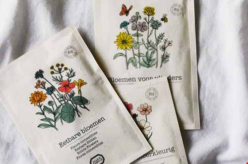 Eetbare bloemen om zelf te zaaien en een handig boek over moestuinieren