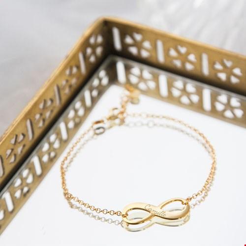 Armband Infinity met Gravure