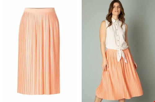 Zo'n plissé rok is super fashionable, en deze kleur is prachtig!