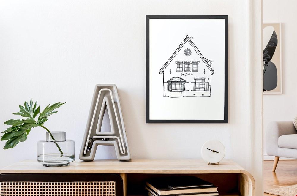 Ontzettend leuk: een getekend huisportret