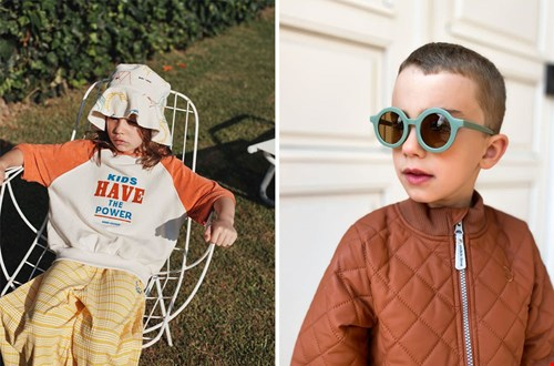 Bucket Hat van Bobo Choses en zonnebril van Grech & Co