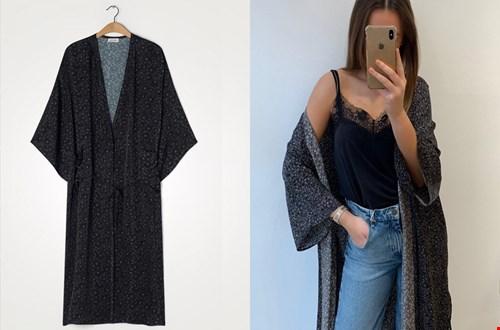 Helemaal on-trend: de kimono, zoals deze van American Vintage