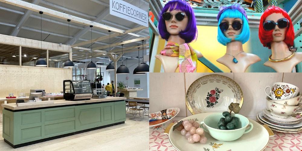 nieuwe koffiecorner, brillen & pruiken, bloemig servies