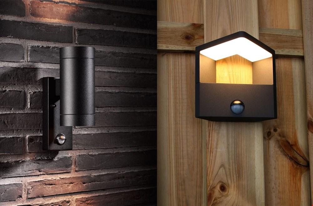 Ideaal zijn buitenlampen met een sensor