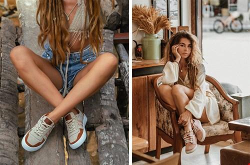 Boho style sneakers