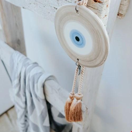 Ceramic Evil Eye Wall Hanging