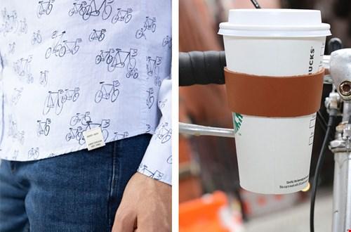 Shirt met fietsen van Sissy Boy, bekerhouder van Ditverzinjeniet