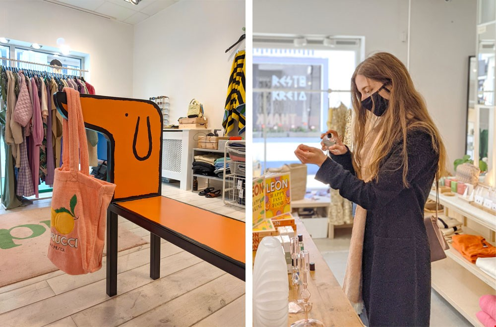 Ida Store (links) en Homy by Lily (rechts)