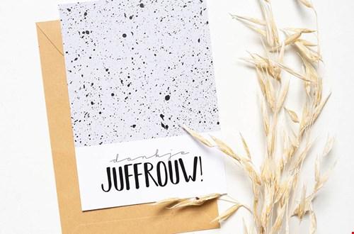 MOODZ design Juf & Meester Bedanken Kaart Flavourites