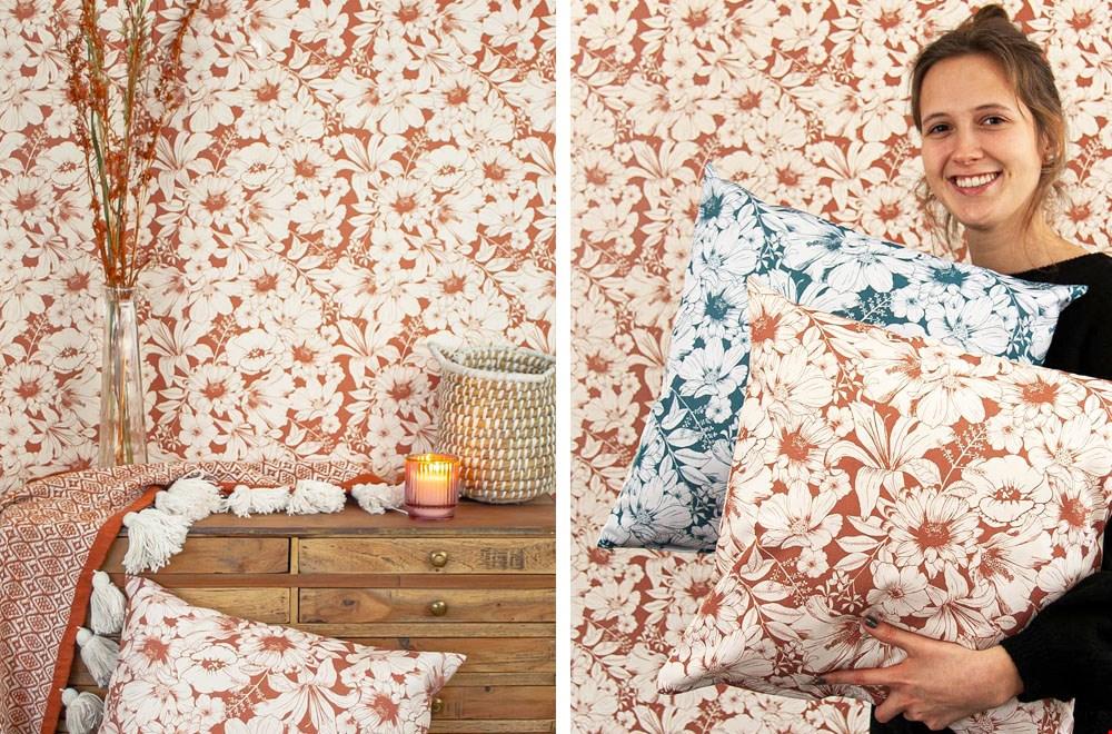 Woonwinkel Studio Assorti Behang en Kussens Flavourites