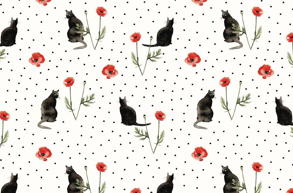 Woonwinkel Studio Assorti Print Cats & Poppies Flavourites