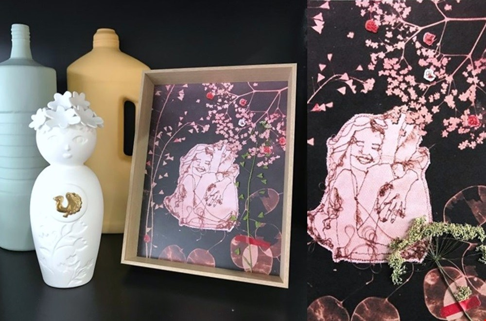 Kunstwerkje met de bottle vazen van Foekje Fleur en Miss Flower