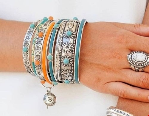 Armband Ster Turquoise Zilver