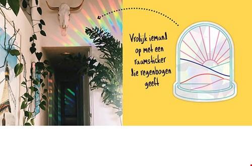 7. Regenboog raamsticker