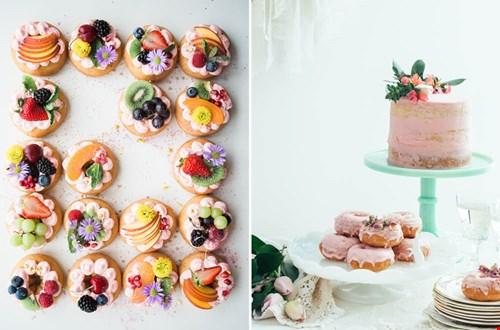 Monoporties en mini weddingcakes