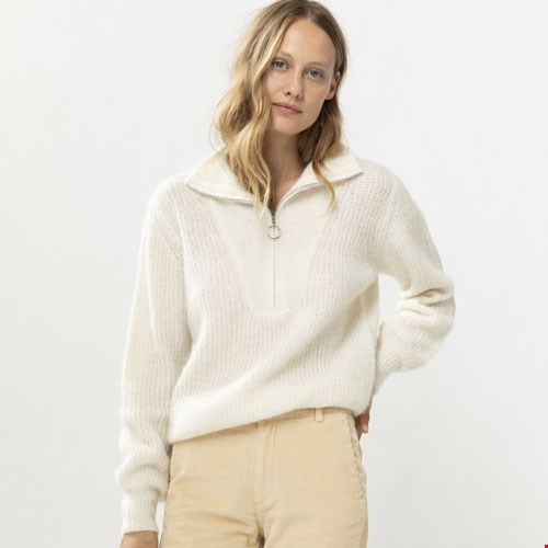 Witte Pullover met Rits