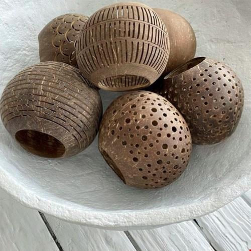 Kokosnoot Waxinelicht