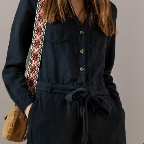 Zwarte Garment Dye Jumpsuit