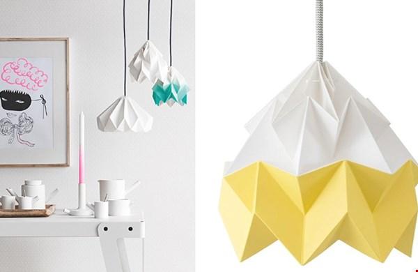 Deze prachtige origami lampen nu met 20% korting!