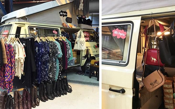 De bus waarmee Eefje regelmatig het land in trekt voor een shop ter plekke, houd haar social media dus in de gaten!