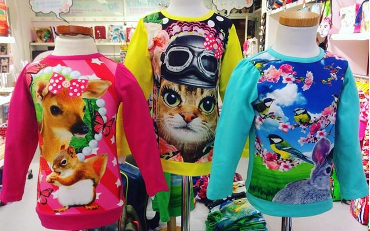 Een impressie van de shirts; bontgekleurd en top kwaliteit!
