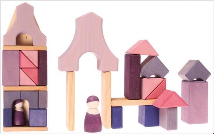 Huis in roze tinten