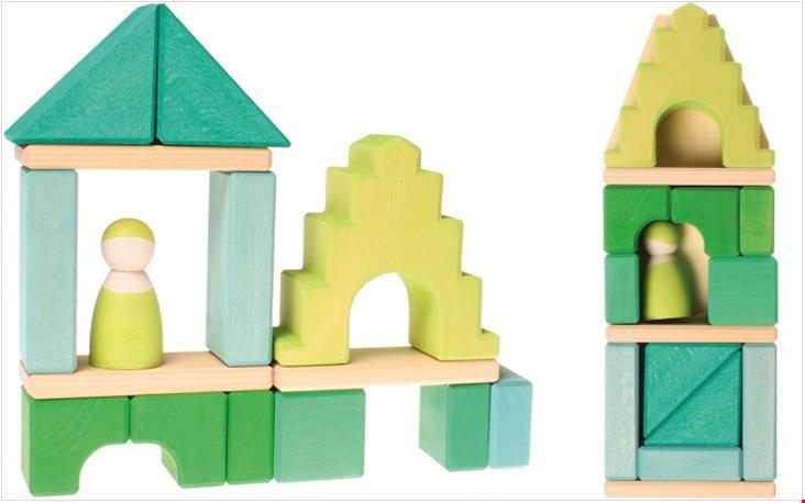 Huis in groentinten