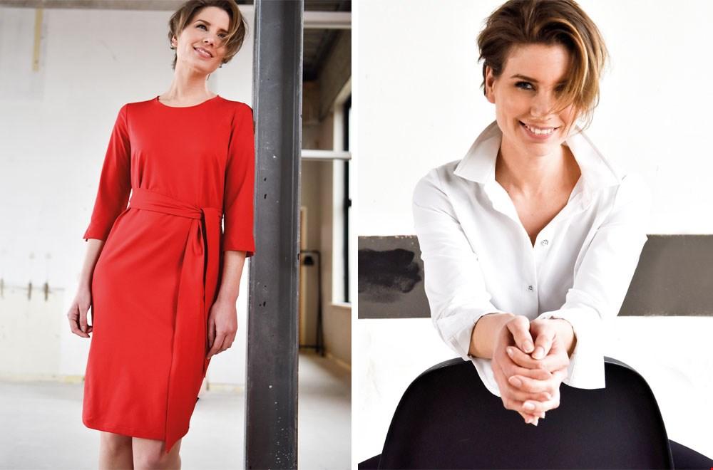 Je m'appelle rode jurk dames fashion mode zomer Flavourites