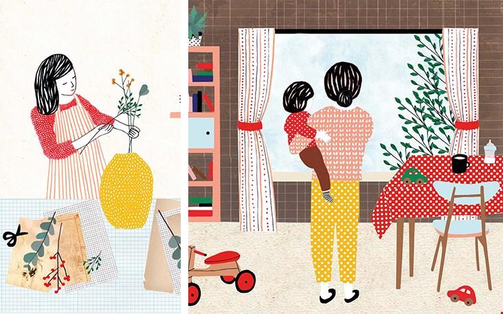 Leuk: de illustraties zijn dus ook als prints of kaarten te bestellen!