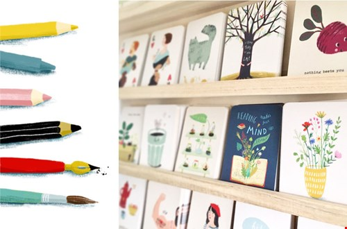 Illu Ster art en stationary illustraties kaarten Flavourites