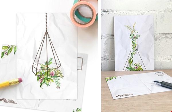 Overal (hang)plantjes, ook op papier!
