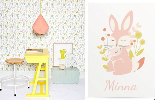 Helemaal klaar toch? De babykamer in dezelfde stijl als 't geboortekaartje!