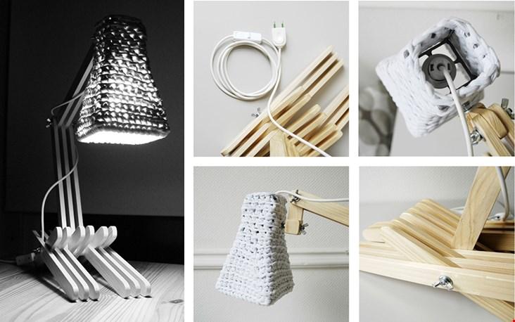 Ook deze gave lamp van Buubok is met de hand gemaakt door Monica