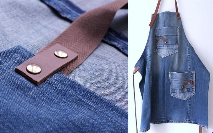 Ook gaaf; deze schort van Lowieke - een merk dat oude denim omtovert tot nieuwe producten!