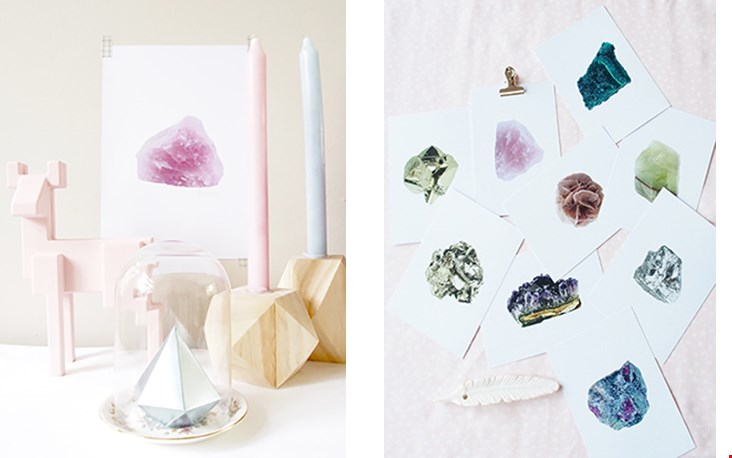Naast de stenen op zich, de mooie kettingen en cadeautjes verkopen ze ook papierproducten!