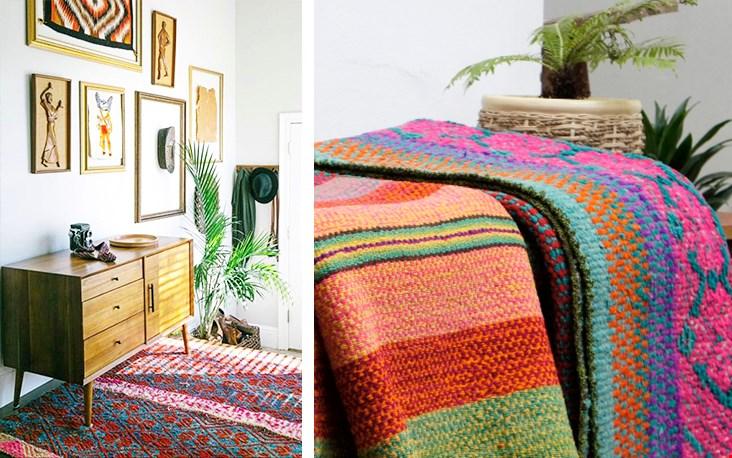 De wol wordt geverfd met natuurlijke grondstoffenwaardoor de prachtige, felle kleuren ontstaan