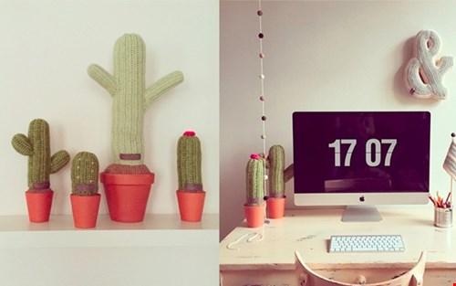 Maak je ruimte een stukje groener met deze gehaakte cactussen, van House-of-oelie.nl