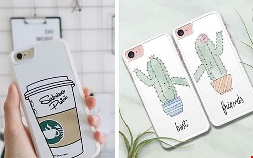 Ook leuk: een koffiemok met je eigen naam of koop meteen ook een hoesje voor je BFF!