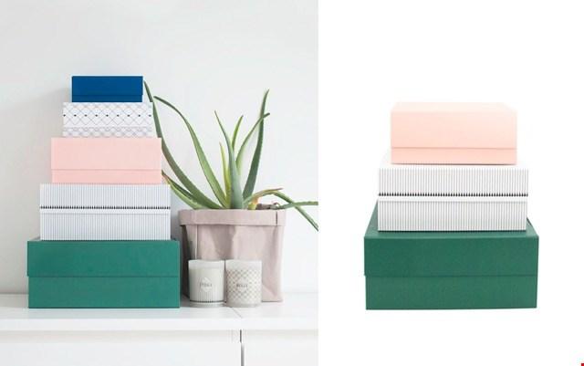 Deze dozen creëren rust in je kast en ze geven er wat kleur aan.