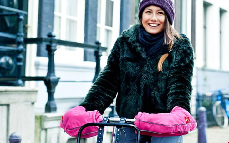 Pink panther op de fiets