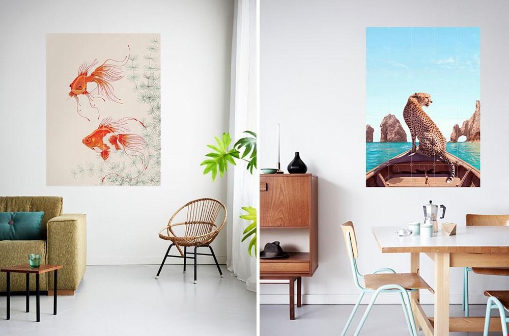 Ixxi goudvissen en jaguar muur decoratie Flavourites