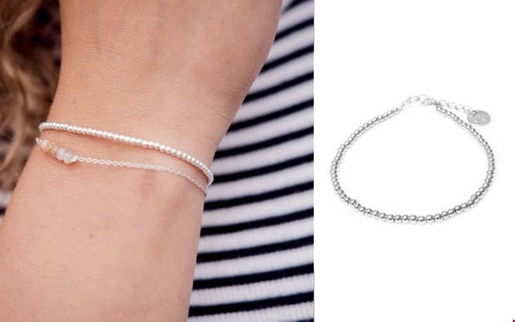 Round bracelet silver